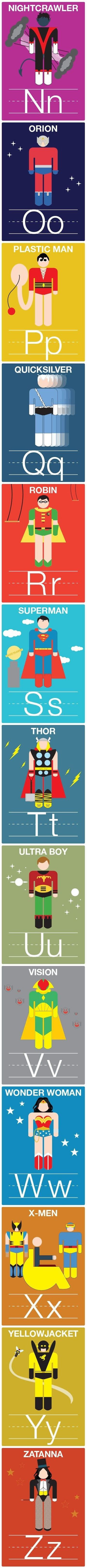N-Z Superhero Alphabet Cards (P. Mizzey)                                                                                                                                                                                 More
