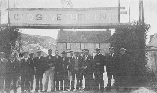 King's Cove Coronation Celebration of King George VI in 1937.