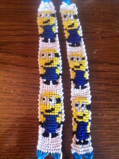 Despicable me minion friendship bracelet pattern number 11281 - For more patterns and tutorials visit our web or the app!