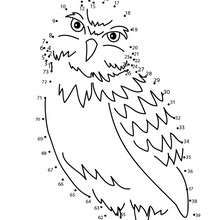 OWL dot to dot game - Free Kids Games - CONNECT THE DOTS games - BIRDS dot to dot