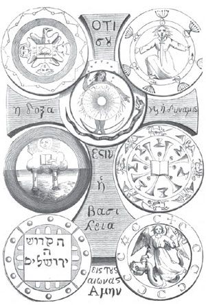 Eliphas Levi 7 seals of the Apocalypse - Eliphas Levi, in his Dogme et Rituel de la Haute Magie (p 364 / p 399 in the English translation as Transcendental Magic), represents the seven seals together, effectively 'sealing' the whole content of the Apocalypse (Greek for 'Revelation').