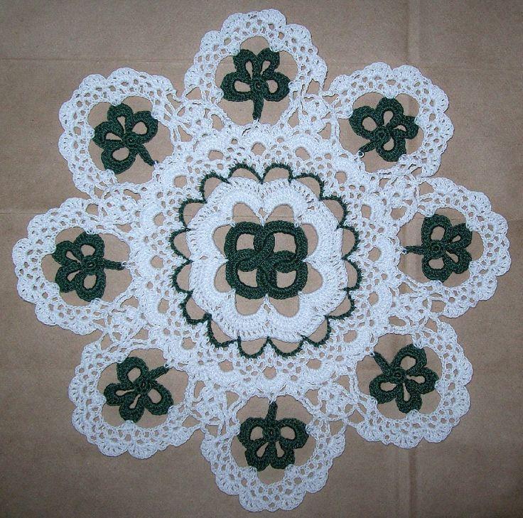 Crochet Doily Patterns for St Patrick Day Crochet Doily PDF Patterns