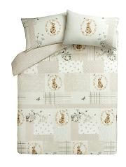 Classic Natural Bunny Patchwork Duvet Cover