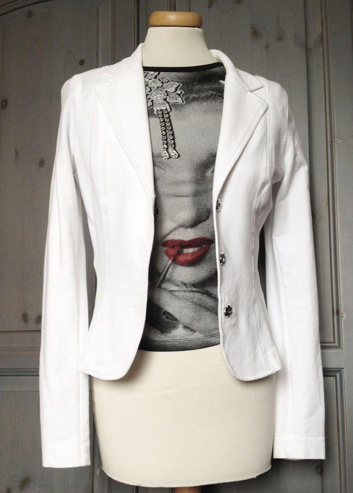 LIU JO Set  n.1 Blazer Bianco e n.1  T-shirt manica lunga Marilyn Monroe strass