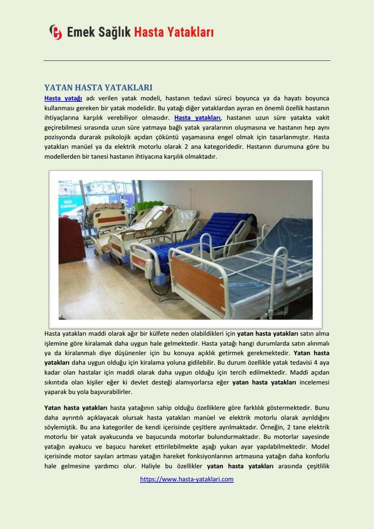 Hasta yataklari satis kiralama