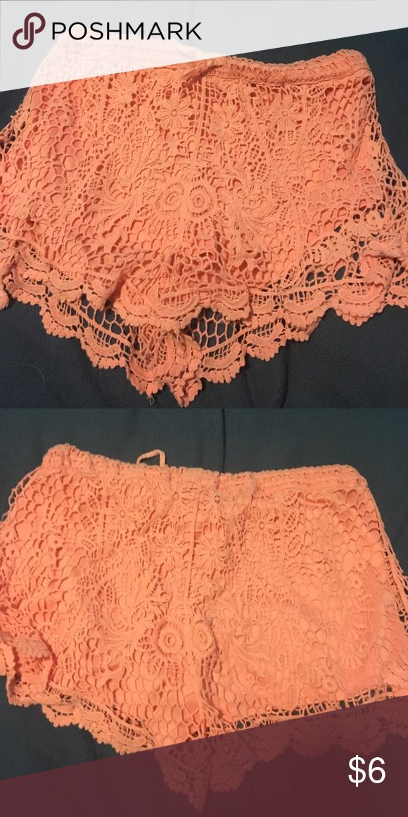 Peach shorts Used shorts peachy color Shorts