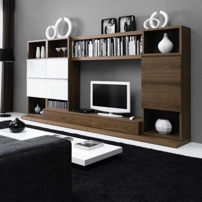 Meuble mural tv faustine atylia salons pinterest tvs for Atylia meuble tv