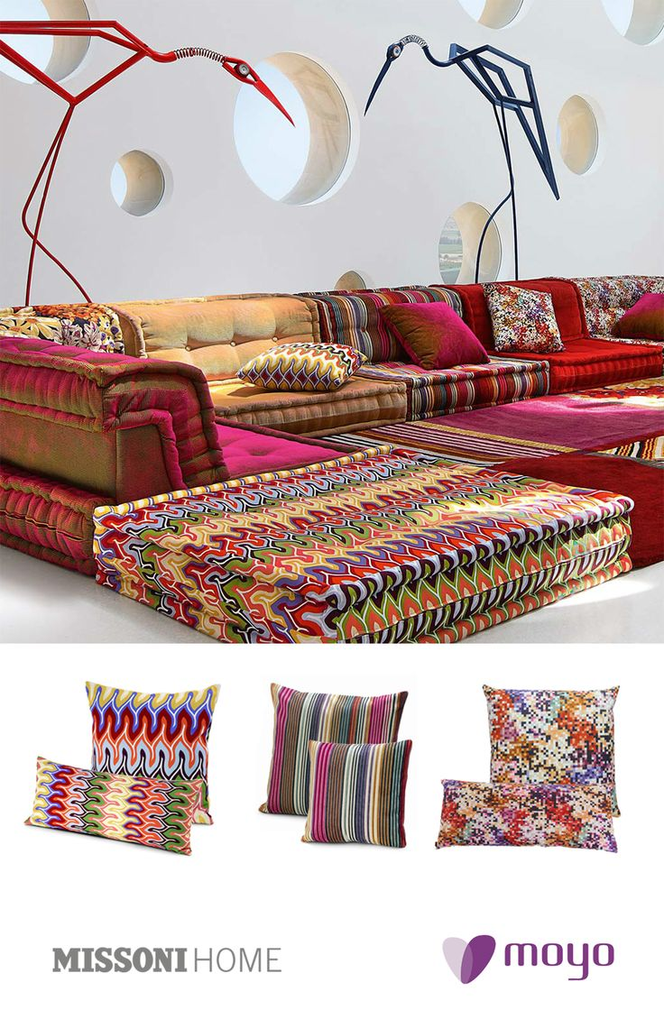 Missoni Home! Nadaun, Lobos and Liberted - Three patterns to brighten the day! Discover now: http://goo.gl/kVmbRi