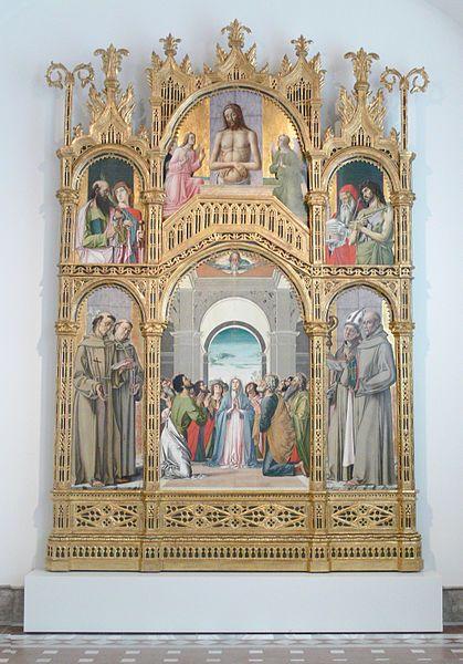 Retablo della Pentecoste ( 1478 ), Alvise Vivarini. Gemäldegalerie Berlin.