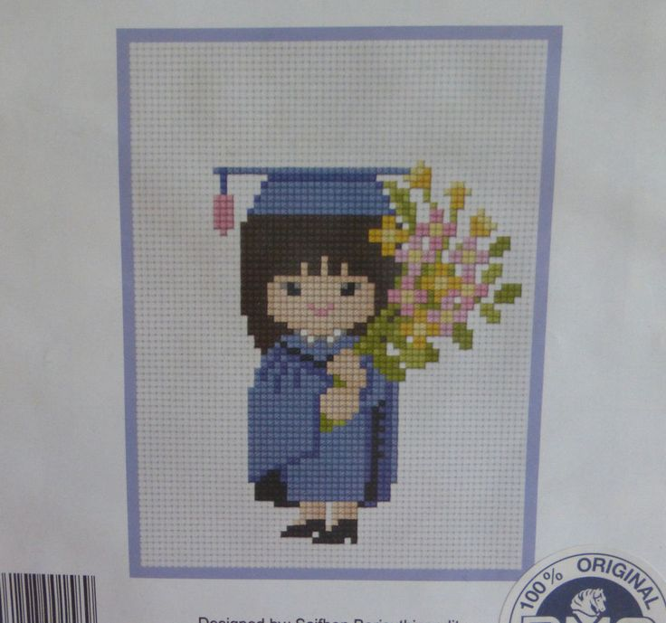 Girl Female Graduation Cross Stitch Kit - DIY Congratulation Cross Stitch Kit