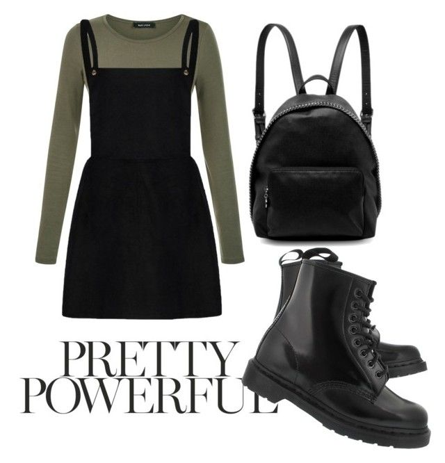 """""""Power look"""" by danickaroetz on Polyvore featuring Dr. Martens and STELLA McCARTNEY"""