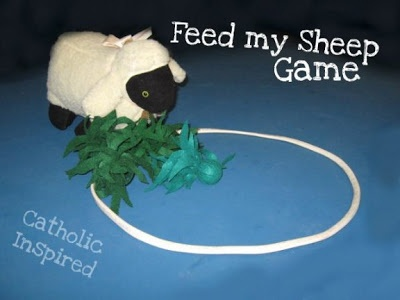 Feed My Sheep Game for Jesus's instruction to Peter to feed His sheep