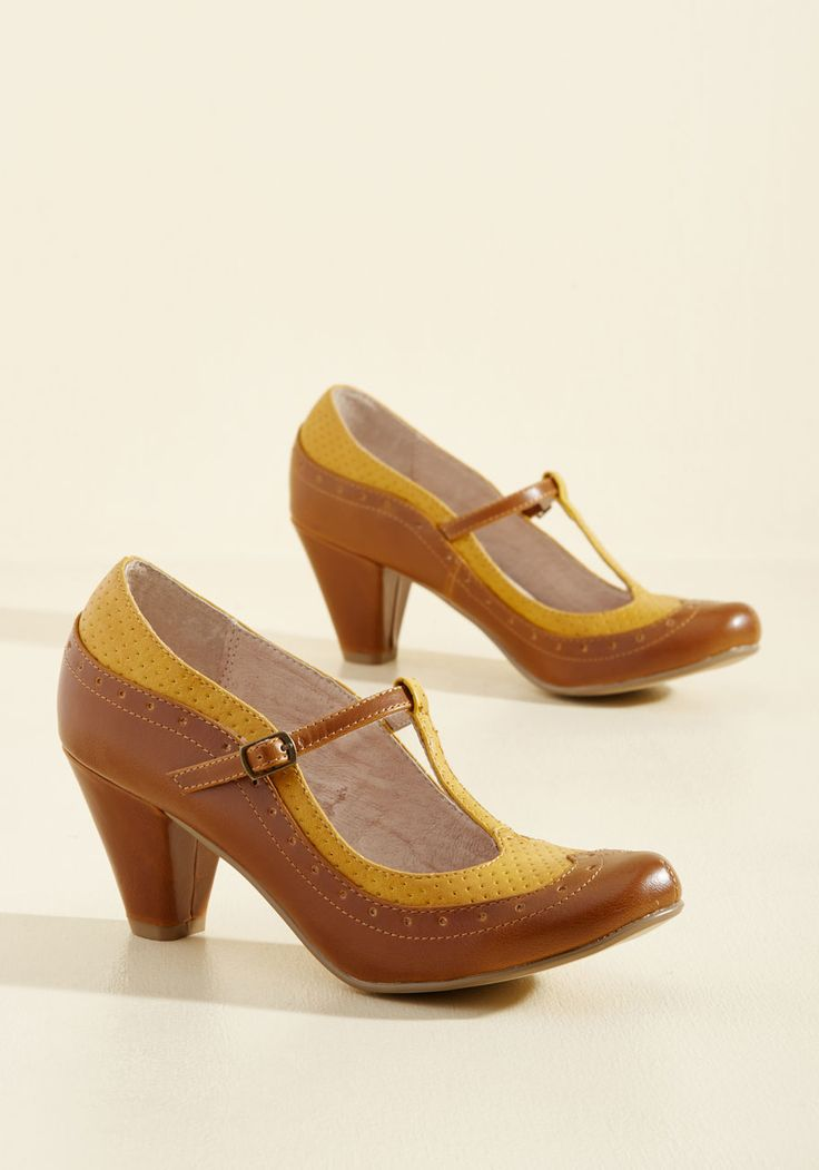Shoes - Seize the Debut Heel in Caramel