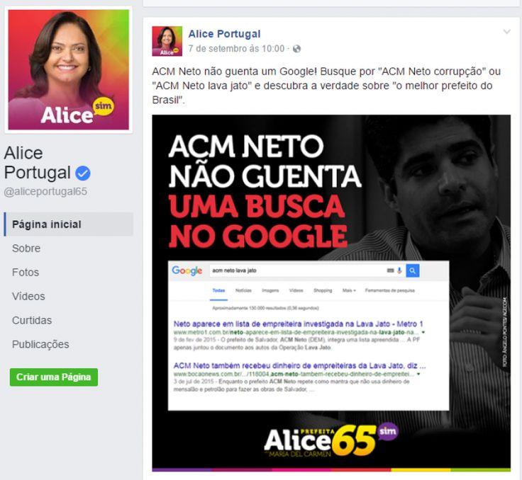 Bocão News - Eleições 2016 - Justiça derruba nova postagem de Alice Portugal na…