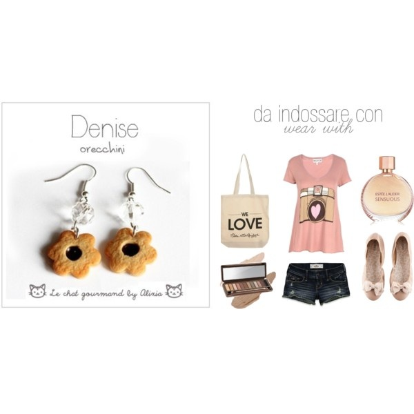 Denise - earrings - le chat gourmand by alixia, created by alixia88.polyvore.com