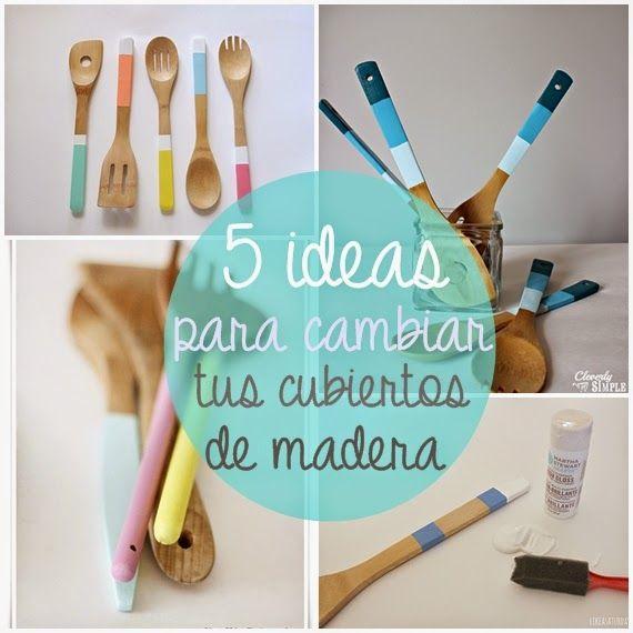 5 IDEAS para cambiar tus utensilios de madera de la cocina!