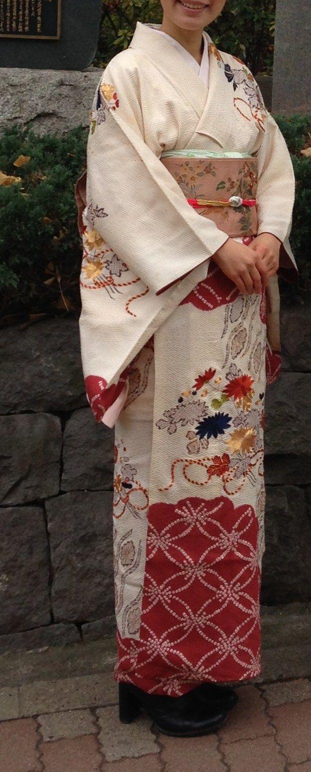 訪問着 / houmongi (Semiformal Kimono) for new year party