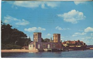 Plastichrome Postcard, Brownsea Landing Stage (Poole Harbour), WHS 1002