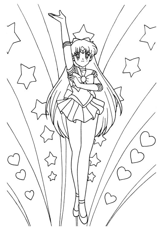 1000 images about coloring on pinterest free printable for Sailor venus coloring pages
