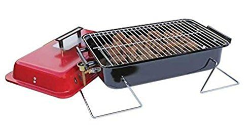 Portable Camping Gas BBQ c/w Lava Rock