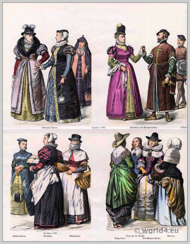 15th century costumes and fashion.