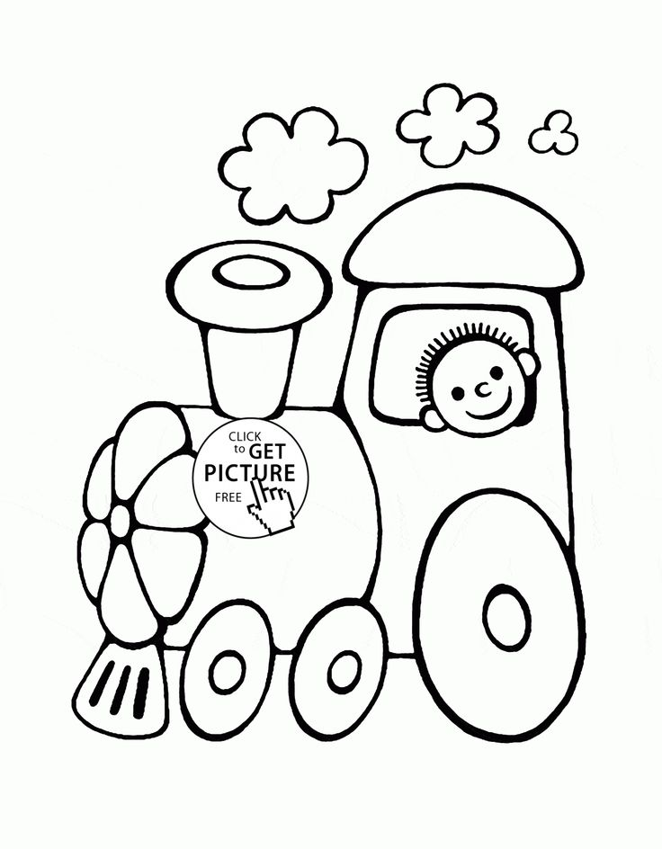 Funny cartoon train coloring page for toddlers transportation coloring pages printables free wuppsy