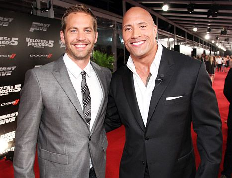 "Days after Paul Walker's death, Dwayne ""The Rock"" Johnson recalls bonding with the late Fast & Furious actor over their daughters."