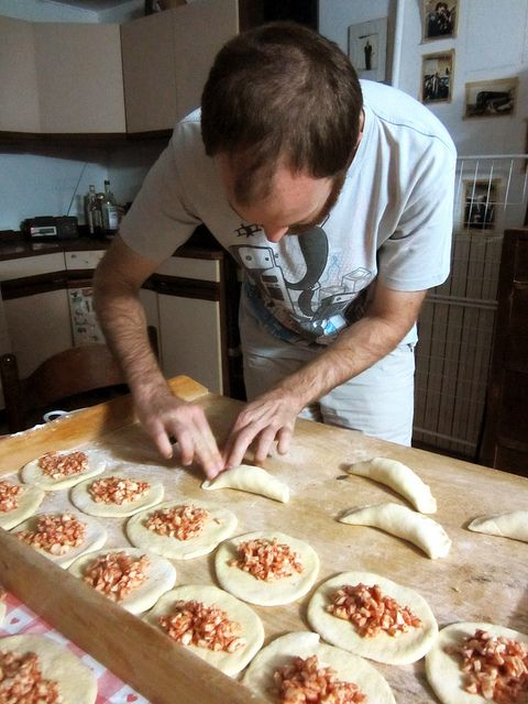 making Panzerotti in Alberobello, Italy