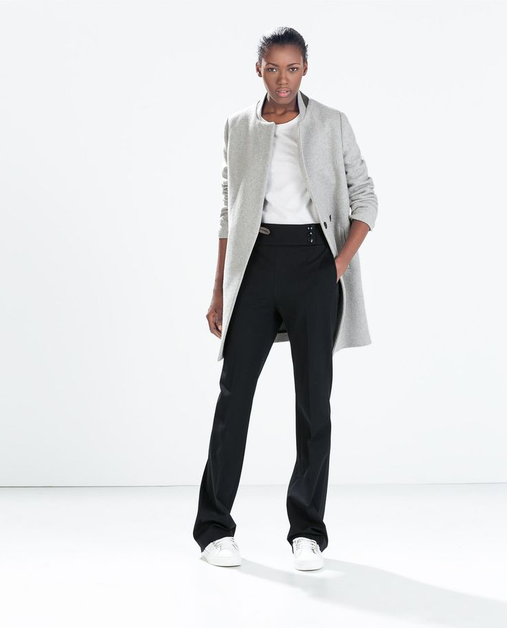 Image 1 of MASCULINE WOOL  COAT from Zara