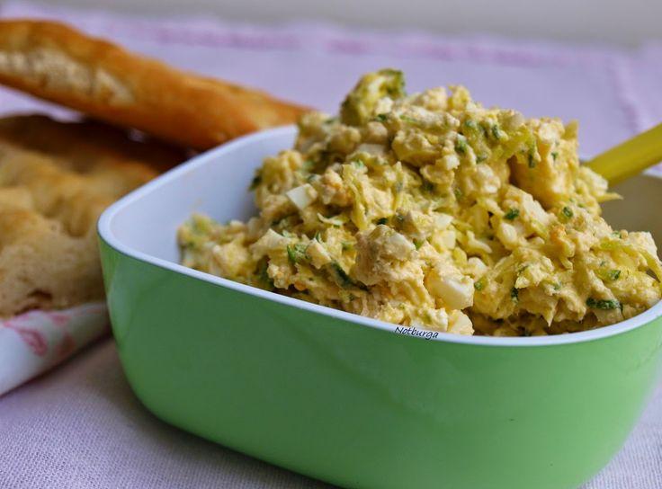 Cukkinis-tojáskrém/Zucchini-Eieraufstrich