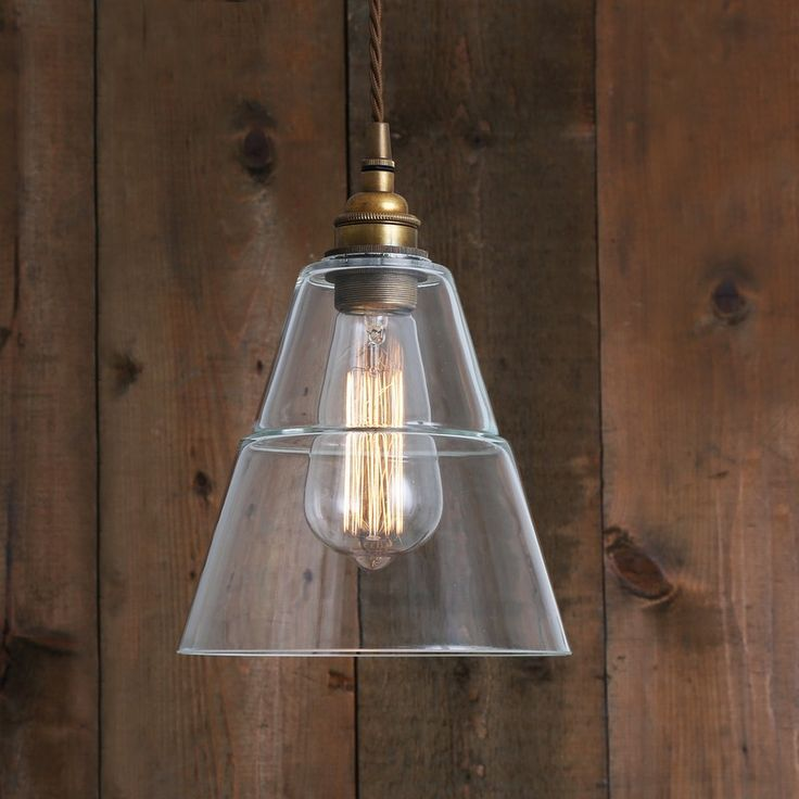 Industrial Glass & Brass Pendant | www.graceandgloryhome.co.uk
