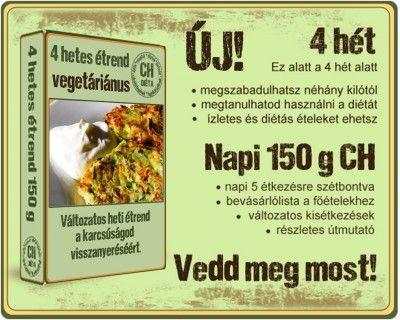 Napi 150 gramm Ch, vegetáriánus