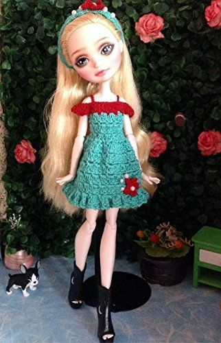 Outfits for Ever After High, Crochet Doll Dress + Headband Mdmtn http://www.amazon.com/dp/B00MJW5FXO/ref=cm_sw_r_pi_dp_NjF-vb1Y0NFZJ