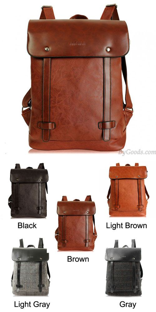 I like the brown one ! Retro Locomotive Artificial Leather Backpack School Bag #backpack #retro #leather #backpack #school #bag