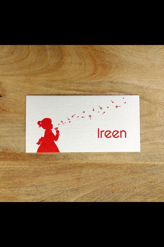 Letterpress geboortekaart / birth card BY Ndruk.be