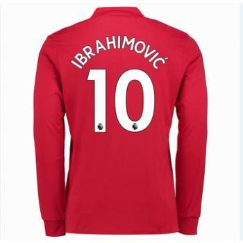 Fotbollströjor Manchester United 2017-18 Zlatan Ibrahimovic 10 Hemmatröja Långärmad