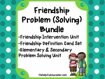 SAVE 30% on The Helpful Counselor's top friendship products with this bundle!