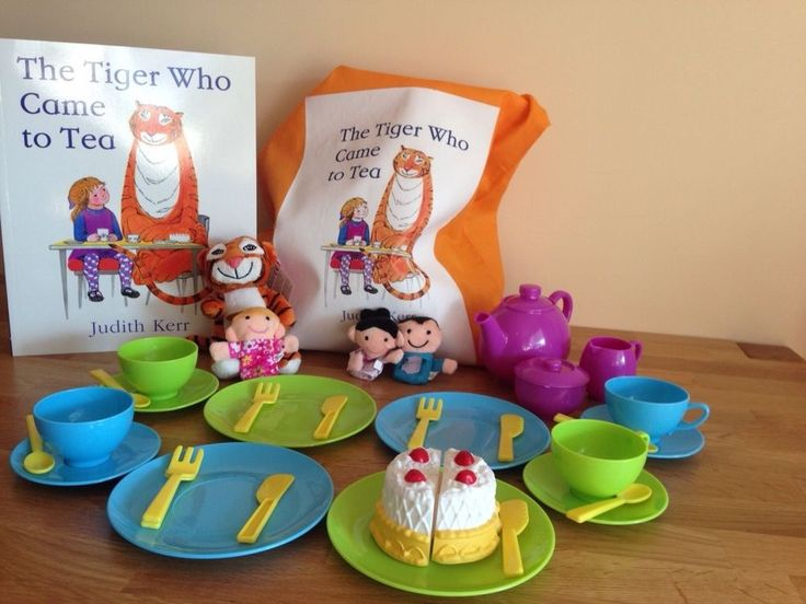 The Tiger Who Came To Tea Story Sack - Complete with Book, Puppets and Tea Set  | eBay