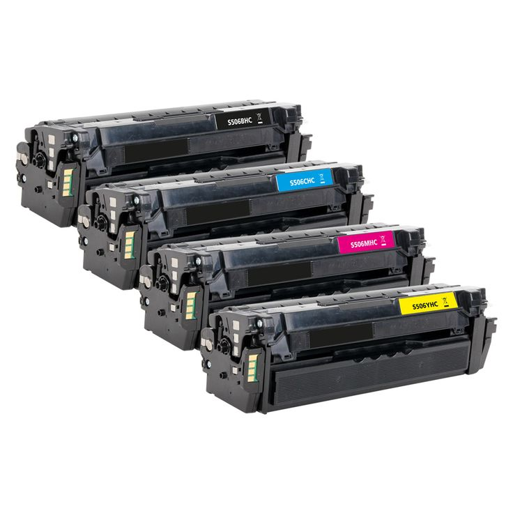Samsung CLT-506L High Yield Black, Cyan, Magenta, Yellow Compatible Toner Cartridge Multipack (CLT-506L/ELS Laser Toner)