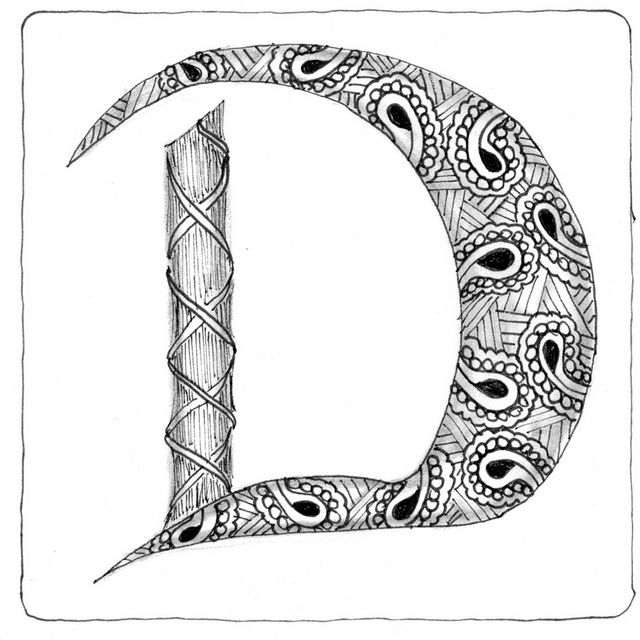 203 best Zentangle Letters images by Mariska den Boer on