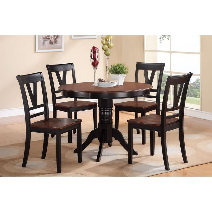 Alstermo Cherry Wood Finish 5 Piece Dining Set