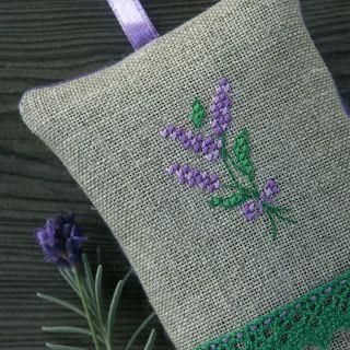 Bela Stitches: na lawendę / lavender sachet