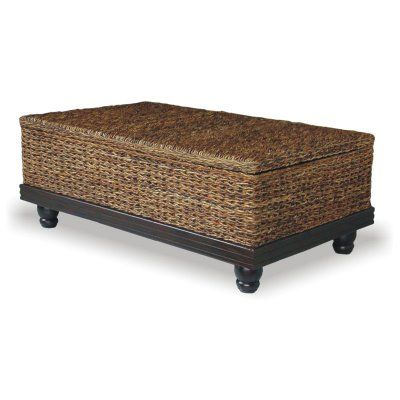 Tropical Coffee Table Abaca Small Astor with Storage - CT-211