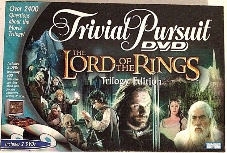 Parker Brothers Game Trivia Pursuit DVD The Lord of the Rings Trilogy Edition #ParkerBrothers
