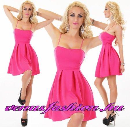 Elegáns pink női ruha party ruha koktélruha