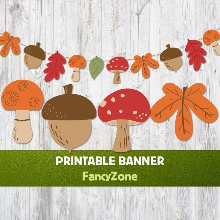 It's just a picture of Mesmerizing Fall Banner Printable