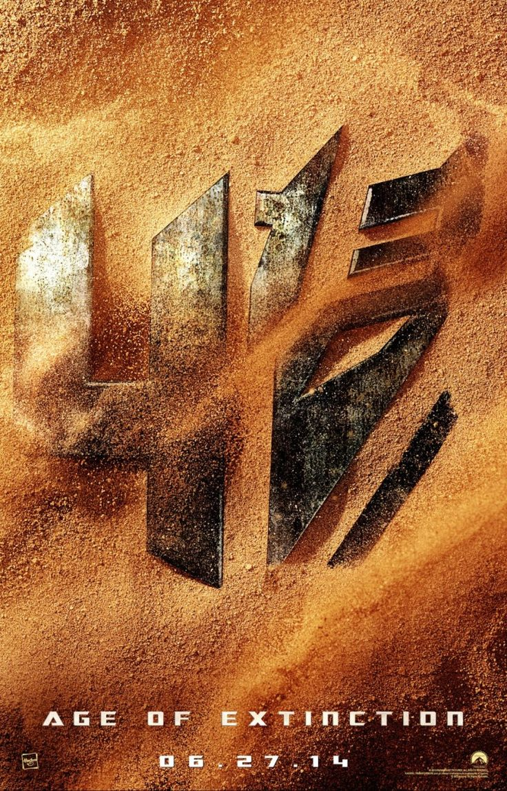Transformers: Age of Extinction...check out the date...a new transformer movie for the end of the school year. yippy! kh
