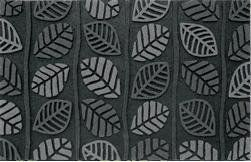 """Clean Scrape Deluxe Welcome Door Mat: Retro Leaf Gray . $23.97. Size: 18"""" x 30"""". Multi-Color ChromaGrit Adds Rich Styling and creative details while cleaning shoes.. Anti-Slip Scraping Surface. Pet Hair easily removed by hosing off or periodic vacuuming. Durable Recycled Rubber Base. The CleanScrape Deluxe welcome/doormats are truly a must have if you value keeping your floors free from outside debris and want to add style to your outside entry!"""