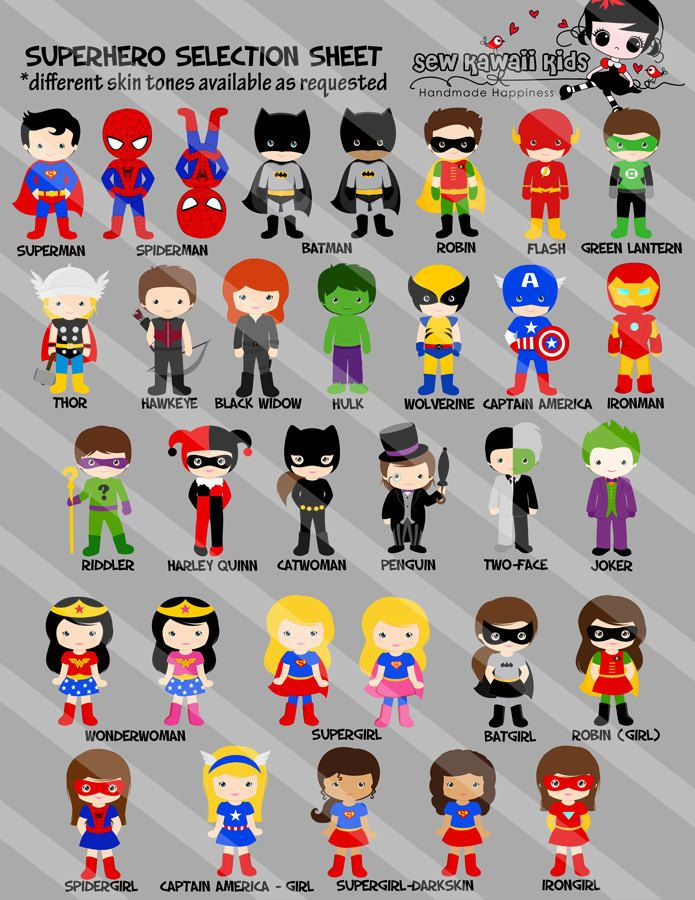Superhero Birthday Invitation Superhero by KawaiiKidsDesign