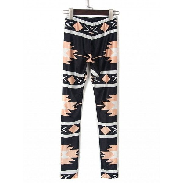 Choies Black Contrast Stripe And Tribal Print Leggings ($15) ❤ liked on Polyvore featuring pants, leggings, black, tribal pants, tribal leggings, tribal print pants, tribal pattern leggings and legging pants